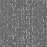Vliesové tapety na zeď Allure geometrický vzor černo-stříbrný