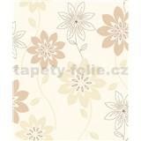 Vliesové tapety na zeď Allure velké květy hnědé