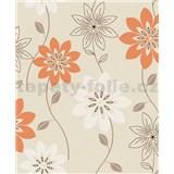 Vliesové tapety na zeď Allure květy oranžové