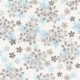 Vliesové tapety na zeď Allure květy hnědo-modré
