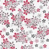 Vliesové tapety na zeď Allure květy šedo-červené