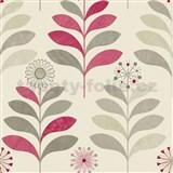 Papírové tapety na zeď Options květy fialové