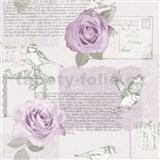 Papírové tapety na zeď Options růže lila