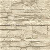 Vliesové tapety na zeď Wood n Stone kámen béžový