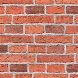 Papírové tapety na zeď Wood n Stone cihla červená
