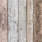 Vliesové tapety na zeď Wood n Stone dřevěné desky modro-hnědé