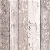 Vliesové tapety na zeď Wood n Stone dřevěné desky hnědo-bílé
