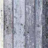 Vliesové tapety na zeď Wood n Stone dřevěné desky modré