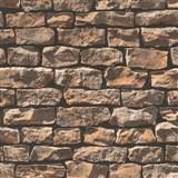 Vliesové tapety na zeď Wood n Stone kámen hnědý