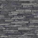 Vliesové tapety na zeď Wood n Stone kámen skládaný šedý