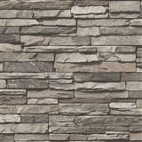 Vliesové tapety na zeď Wood´n Stone kámen hnědý