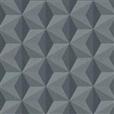 Vliesové tapety na zeď Esprit 3D abstrakt šedý se třpytem