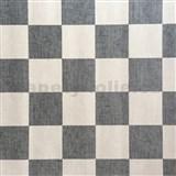 Papírové tapety na zeď čtverce krémové a šedé