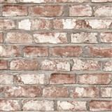 Vliesové tapety na zeď Exposed Warehouse cihla hnědá