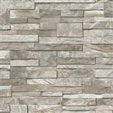 Vliesové tapety na zeď Splendour 3D kamenný obklad šedý