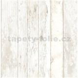 Vliesové tapety na zeď Exposed dřevěná prkna s bílou patinou