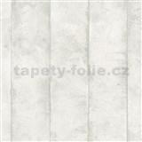Luxusní vliesové tapety na zeď Avalon omítkovina v pruzích krémová