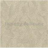 Luxusní vliesové tapety na zeď Avalon geometrický vzor tmavě hnědý