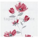 Vliesové tapety na zeď Blues květy červené - POSLEDNÍ KUSY