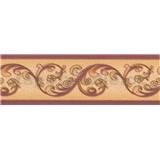 Vinylová bordura - bordová - 6,5 cm x 5 m