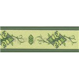 Vinylová bordura - zelená - 6,5 cm x 5 m