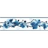 Samolepící bordura orchidej modrá 5 m x 8,3 cm
