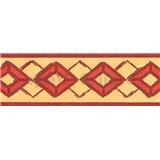 Samolepící bordury kosočtverce červené 5 m x 6,9 cm