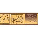Samolepící bordura natural hnědá 5 m x 6,9 cm