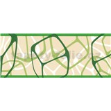 Samolepící bordury čtverce zelené 5 m x 6,9 cm