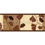 Samolepící bordury ginkgo listy tmavě hnědé 5 m x 6,9 cm