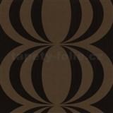 Retro tapety Cameo - cibulov� vzor - tmav� hn�d� - MEGA SLEVA