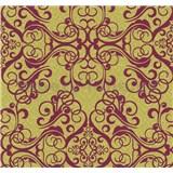 Vliesové tapety na zeď Caprice ornament červený na zlatém podkladu - POSLEDNÍ KUS