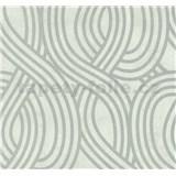 Vliesové tapety na zeď Carat moderní vzor stříbrný na bílém podkladu