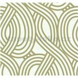 Vliesové tapety na zeď Carat moderní vzor světle zlatý na bílém podkladu