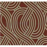 Vliesové tapety na zeď Carat moderní vzor zlatý na červeném podkladu