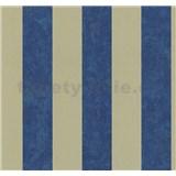 Vliesové tapety na zeď Carat pruhy modro-zlaté