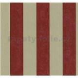 Vliesové tapety na zeď Carat pruhy červeno-zlaté