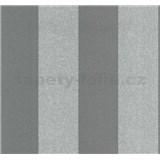 Vliesové tapety na zeď Casual Chic pruhy tmavě šedé - POSLEDNÍ KUS