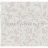 Vliesové tapety na zeď Casual Chic lístečky růžové
