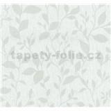 Vliesové tapety na zeď Casual Chic lístečky světle šedé