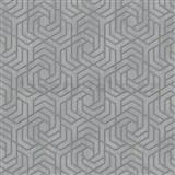 Vliesové tapety IMPOL City Glam geometrický vzor šedý se zlatými metalickými odlesky