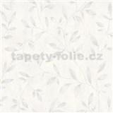 Vliesové tapety IMPOL City Glam popínavé větvičky hnědé na bílém betonu