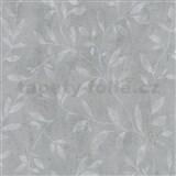 Vliesové tapety IMPOL City Glam popínavé větvičky šedé na tmavě šedém betonu