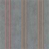 Vliesové tapety na zeď IMPOL City Glam beton tmavě šedý s růžovými pruhy s třpytkami