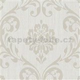 Vliesové tapety na zeď Classico zámecký vzor světle hnědý