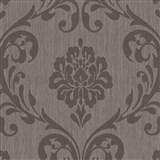 Vliesové tapety na zeď Classico zámecký vzor tmavě hnědý