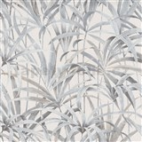Vliesové tapety na zeď IMPOL Code Nature listy šedo-béžové na krémovém podkladu
