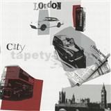 Tapety na zeď Code Red - retro Londýn v červené