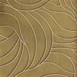 Vliesové tapety na zeď Colani Visions abstraktní listy zlaté