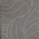 Vliesové tapety na zeď Colani Visions abstraktní listy šedé se stříbrnou konturou